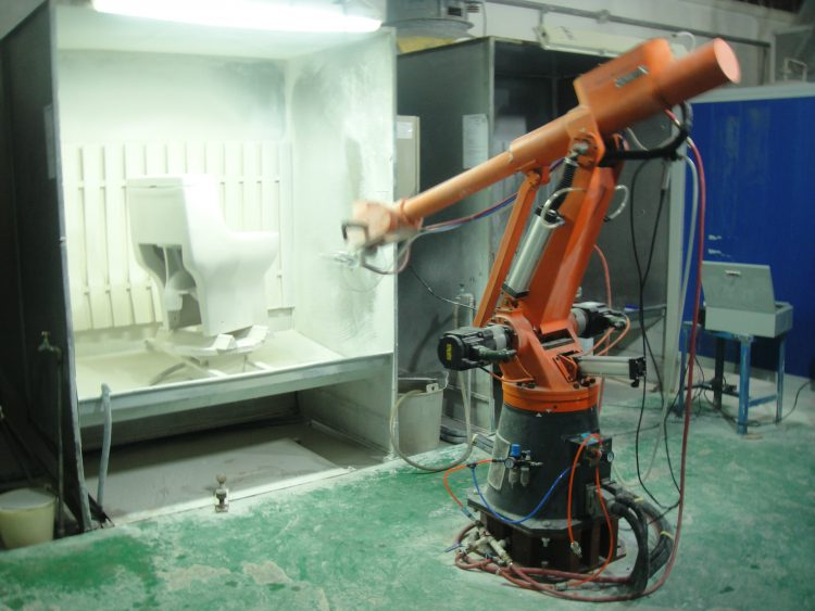 供应六轴关节型人工示教喷涂机器人