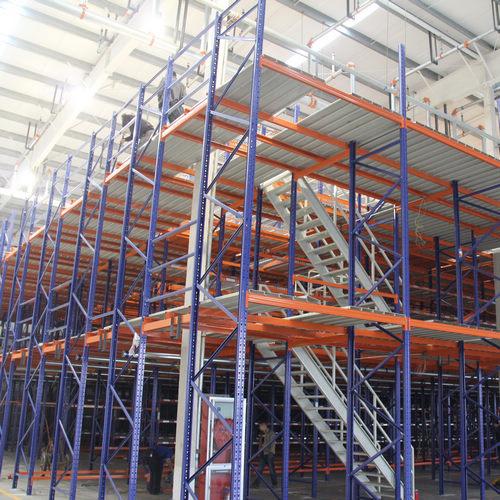 阁楼平台货架 全组装结构,可移动,可调节,可拆装