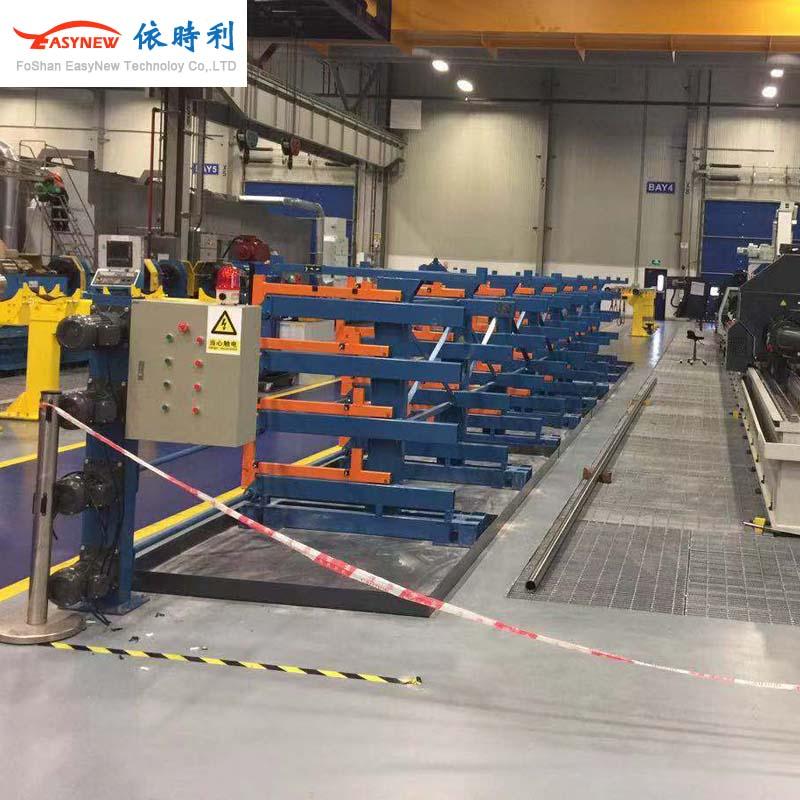 伸缩式悬臂货架,电机电动悬臂货架定做,货架自动化承重大订制