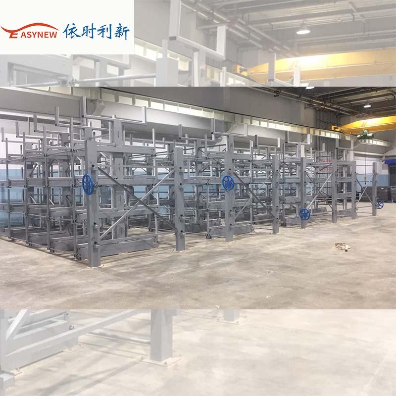 供应6米抽屉式板材和管材货架,伸缩式悬臂仓储货架