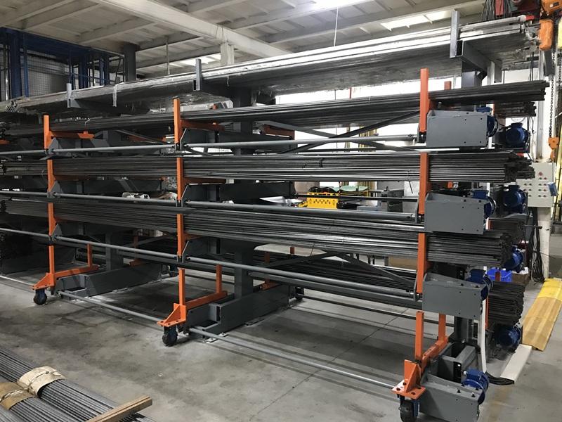 依时利2021客户案例 电动伸缩式悬臂货架厂家实拍