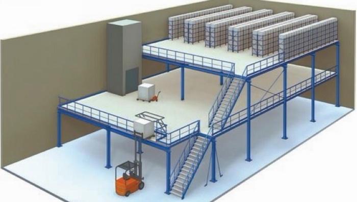 阁楼货架厂定制重型 搭阁楼加二层钢平台货架 可拆卸