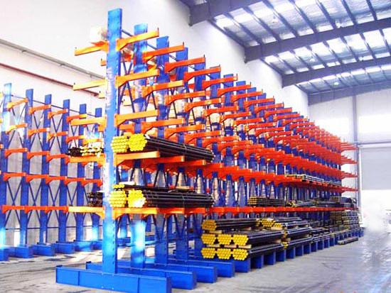 厂家定制伸缩式悬臂货架 可手摇伸缩式悬臂货架定制包安装