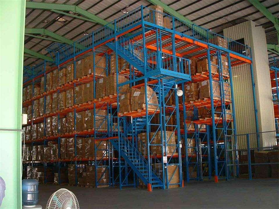 两层楼层货架