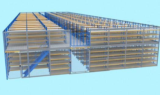 楼层货架设计图
